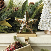 Mercury Glass Star Stocking Holder