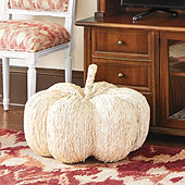 Giant Corn Husk Pumpkin