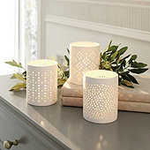 Bisque Votive Holder - Set of 3
