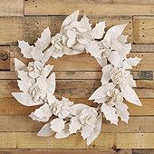 Floral Paper Wreath