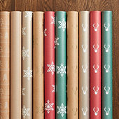 Suzanne Kasler Antler or Snowflake Gift Wrap - Set of any 3