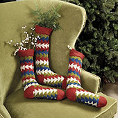 Bunny Williams Vintage Knit Stocking