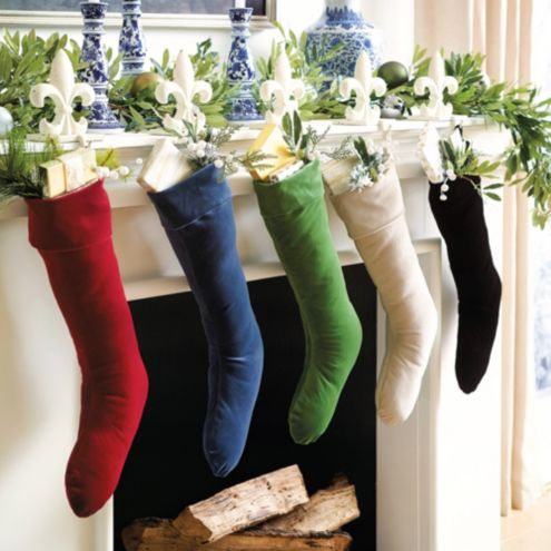 Signature Velvet Christmas Stockings