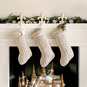 Chunky Knit Stocking - Cream