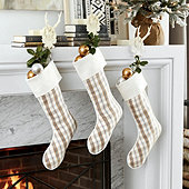 Suzanne Kasler Plaid Blanc Stocking