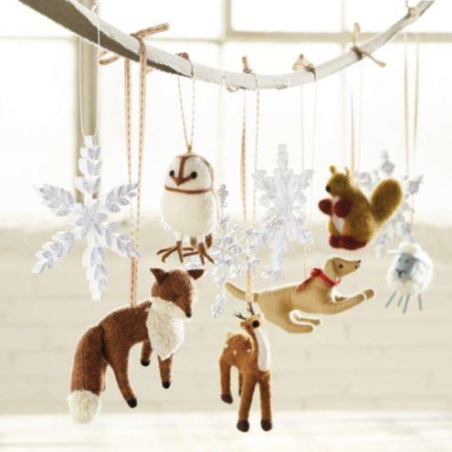 Bunny Williams Felt Animal Ornaments Set Of