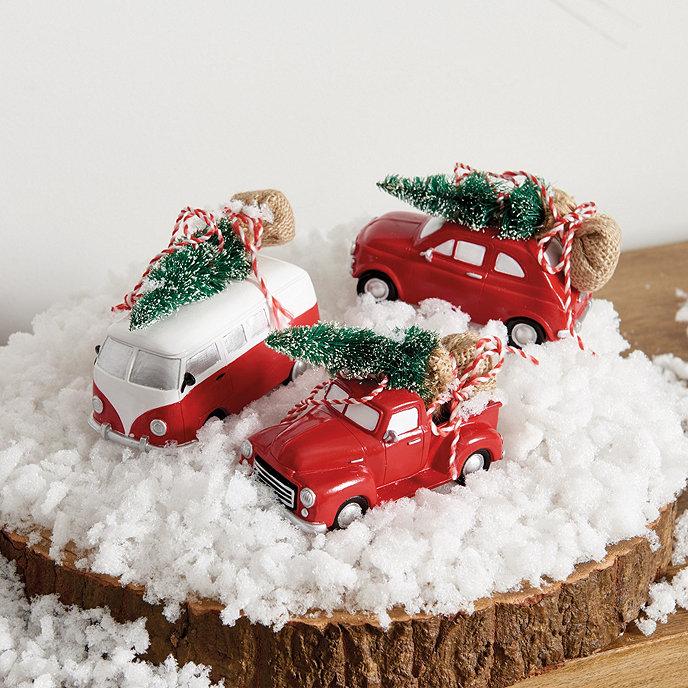 Car Christmas Ornaments.Vintage Car Ornaments Set Of 3