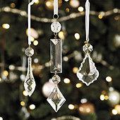 Chandelier Pendant Ornaments - Set of 12