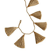 Oversized Tassel Garland - Natural