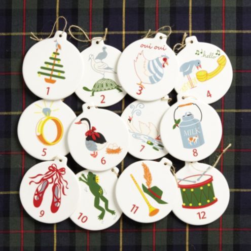 12 days of christmas ornaments - 12 Days Of Christmas Decorations