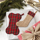 Suzanne Kasler Plaid Petite Stocking Ornaments