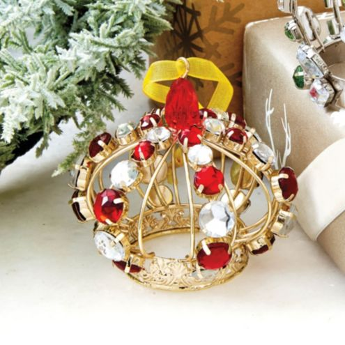 Suzanne Kasler Gilgen Crown Ornaments - Set of