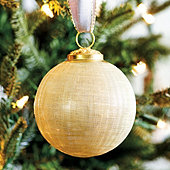 Etched Glass Ornaments - Set of 6