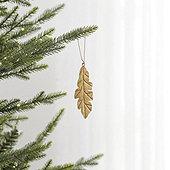 Gilded Leaf Ornament