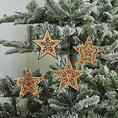 Nordic Star Ornaments - Set of 4
