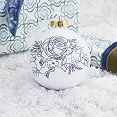 Zoe Floral Ornament