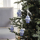 Blue & White Vase Ornaments