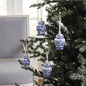 Blue & White Vase Ornaments