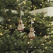 Squirrel & Fox Ornaments