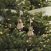 Squirrel & Fox Ornaments