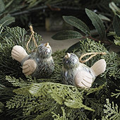 Ceramic Bird Ornaments