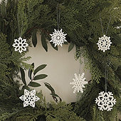 Cut Out Snowflake Ornaments