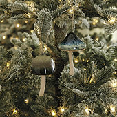 Ceramic Mushroom Ornaments - Assorted Set of 2