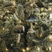 Ceramic Mushroom Ornaments - Assorted Set of 2