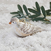 Snowy Bird Ornament