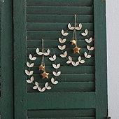 Leaf & Gold Star Ornament