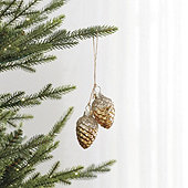 Glass Pinecone Ornament