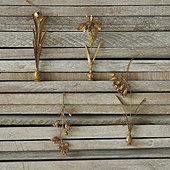 Golden Floral Ornaments