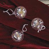 Iridescent Glass Ornament Balls - Set of 3