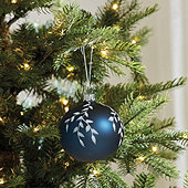 Blue & White Branch Ornaments - Set of 6