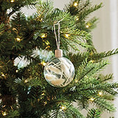 Dried Grass Glass Ornaments - Set of 3