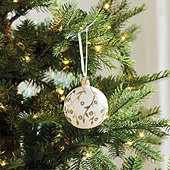 Gold Branch Glass Ornaments - Set of 6