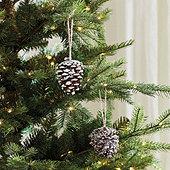 Natural Pinecone Ornaments - Set of 2