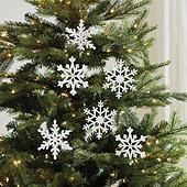 Wood Snowflake Ornaments - Set of 3