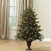 4' Pre-Lit Potted Frasier Fir Tree