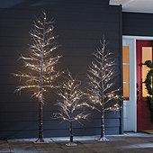 Outdoor LED Snowy Tree
