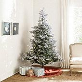 Prelit Flocked Grandis Fir 7' Tree