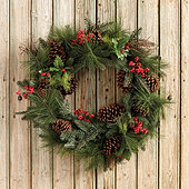 Mixed Pine & Berry Wreath