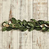 Southern Magnolia Gold Accent Garland