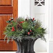 Mixed Pine & Berry Planter Insert