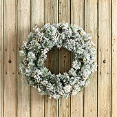 Banff Flocked Wreath