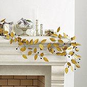 Gilded Leaf Garland