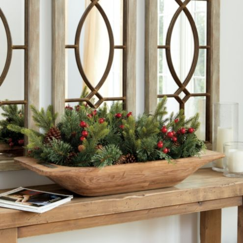 Classic Dough Bowl Christmas Greenery Filler