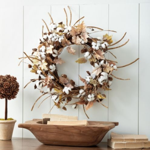 Cotton stems Wreath