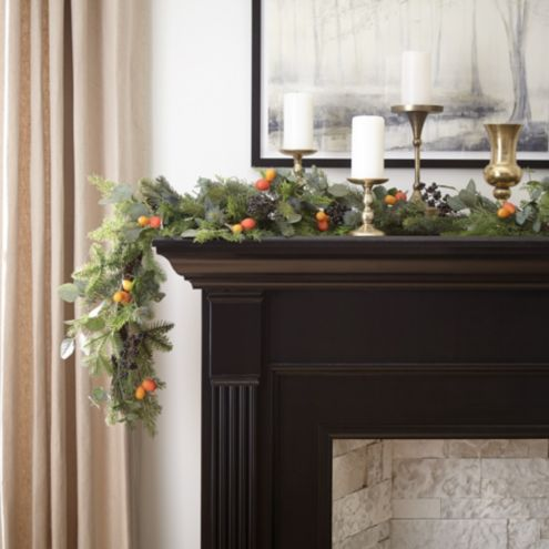 Citrus Thistle Christmas Garland