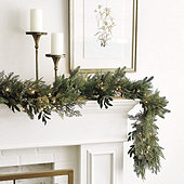 Prelit Mixed Cedar 6' Garland